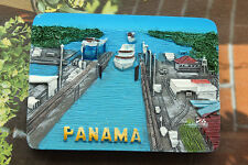 Panamakanal Reiseandenken 3D Polyresin Kühlschrankmagnet Souvenir Magnet