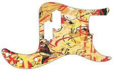 P Bass Precision Pickguard Custom Fender 13 Hole Guitar Pick Guard Abstract 1