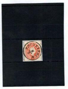 """Österreich 1860 - 5 Kr. Luxus Briefstück, ideal """"Tscheitsch""""  (#8711)"""
