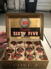 Dunlop 65 One Dozen Vintage Golf Balls And Original Box In The Wrappers