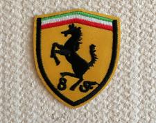 Patch Toppa Brand Logo Auto Ferrari Stemma Marchio Ricamata Termoadesiva 6x5cm