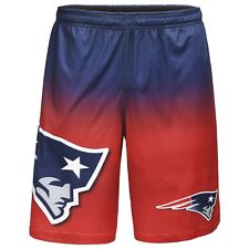New England Patriots NFL Gradient Blue/Red Big Logo Training Shorts FREE
