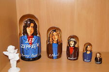 "Led Zeppelin Jimmy Page nesting doll Russian doll 5pc ""7"