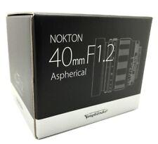 New VOIGTLANDER NOKTON 40mm f/1.2 Aspherical Lens for SONY E Mount