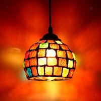 Abat-jour Lampe Suspendu Mosaïque Cage Verre Lustre Suspension Décor Maison E27