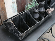 Industrial 10 compartment black rustic storage box
