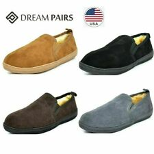 DREAM PAIRS Men's faux fur Warm Slippers Loafers Moccasin Sherpa Casual Shoes