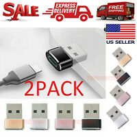 2 PACK USB C 3.1 Type C Female to USB 3.0 Type A Male Port Converter Adapter NEW