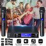 Kit Coppia Microfoni UHF 2 canali Wireless Professionale Microfono Karaoke 220V