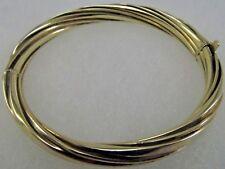 14K Gold Swirl Open Bangle Bracelet 7in x10mm  Sale-Save 1400.  #1058