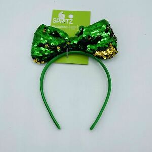 SPRITZ St Patrick's Day Emerald Green Headband One size
