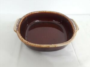 VTG Hull  Drip Glaze Oven Proof square SERVING BOWL tray (q356)s2b