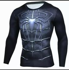 Men Spiderman Compression 3D Printed Cosplay Costumes Long Sleeves T Shirt