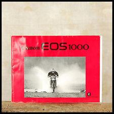 Canon Instruction Manual EOS1000 35mm Film SLR Original