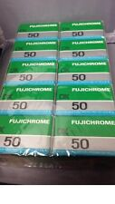 10 rolls Fujifilm Fujichrome  50 (RF135DX) 36 ex. slide film color 35mm