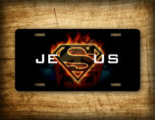 Jesus License Plate Superhero Superman Auto Tag 6x12 Aluminum Jesus Sign