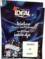 TEINTURE IDEAL TEXTILE TISSU VETEMENT coton lin laine polyamide COLORIS AU CHOIX
