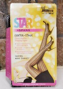SPANX 2062 Star Power Center Stage shaping tights DIAMOND STRIPE sz A black