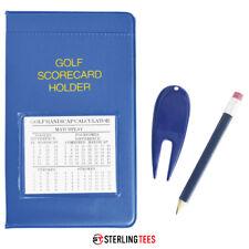 Longridge Golf PVC Scorecard Holder - + Handicap Calculator , Pencil & pitchfork