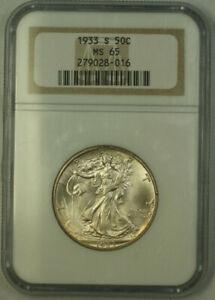 1933-S Walking Liberty Half Dollar 50c Silver Coin NGC MS-65 JAB