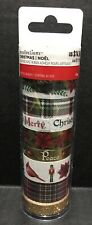 Christmas Noel Washi Tapes By Recollections 8pc Set New