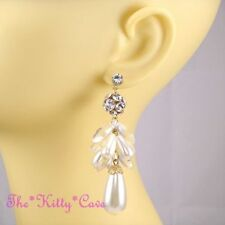 Crystal Butterfly Chandelier Round Costume Earrings