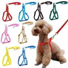 Dog Cat Harness Leash Adjustable Harness Vest Leash Collar Puppy Small Outdoor