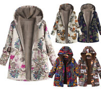 Womens Ladies Winter Warm Hooded Outwear Coats Oversize Thick Parka Outwear AD