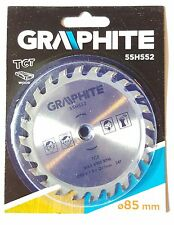 TCT 24 TOOTH BLADE FOR WOOD MINI CIRCULAR SAW 85MM DIAMETER 10MM BORE HOLE DISC