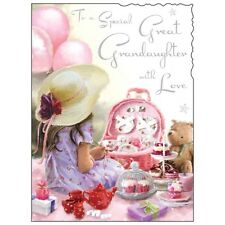 Great Granddaughter Birthday Card ~ Special Great Grandaughter ~ Luxury Card