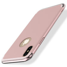 For Apple iPhone X Shockproof Ultra Thin Slim Stylish Hard Case in Rose Gold