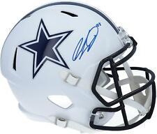 CeeDee Lamb Dallas Cowboys Signed Flat White Alternate Revolution Replica Helmet