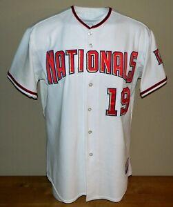 2009 Scott Olsen Game Worn Washington Nationals Home Jersey #19 - Size 50