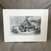 Samoyedic Tribe Samoyed Village Antique Print  Ca. 1890