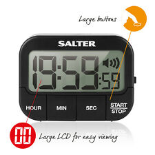 Salter Kitchen Digital Timer Cooking Countdown Up Extra Loud Alarm Magnetic NEW