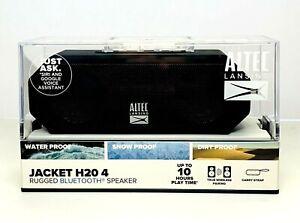 Altec Lansing Jacket H20 4 Black Rugged Bluetooth Speaker Waterproof Portable