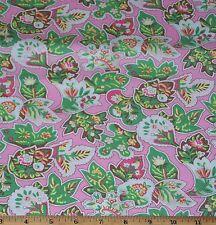 Verna Mosquera Snapshot Fabric 1yd 100% Cotton Pink Vintage Paisley