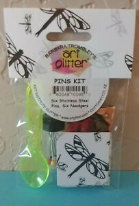Art Glitter Glue: Tools Kit - 6 PINS, 6 Noodgers, 1 cloth and 1 Spoon