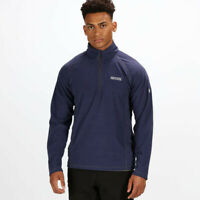 Regatta Mens Montes Half Zip Lightweight Mini Stripe Fleece Top Navy Blue Sports