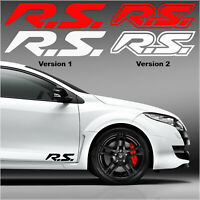 Stickers Renault Sport RS Sport - X2 Autocollants decal carrosserie -13 coloris