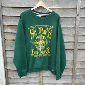 Oversized Russell Athletic St Patricks Day Sweatshirt From USA