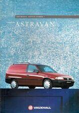 Vauxhall Astra Van Mk3 1994-95 UK Market Sales Brochure Merit LS 1.6 1.7D