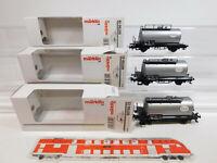 CL698-0,5# 3x Märklin H0/AC Kesselwagen Esso (aus Set 00750) DB, NEUW+OVP