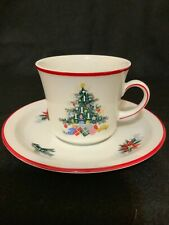 BAVARIAN SCHUMANN china NOEL pattern CUP AND SAUCER Germany