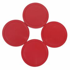 4 PCS Air Hockey Puck Table Arcade Game Pucks 82 mm - Red WS T2K6
