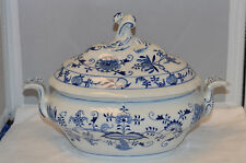 Original Zwiebelmuster (Meissen) Oval Covered Tureen - Blue Onion - Excellent