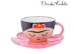 Sass & Belle Frida Kahlo Cup and Flower Saucer Set Boho Fiesta Teacup