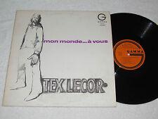 TEX LECOR Mon Monde... a Vous LP Gamma Records Canada French Country Music Album
