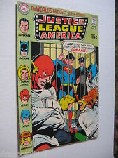 2 Vintage Old Collectible Justice League DC Comic Books 81 & 82 VF Lot