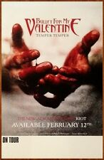 BULLET FOR MY VALENTINE Temper Ltd Ed Discontinued RARE Poster+FREE Metal Poster